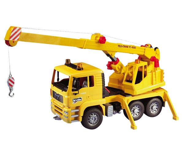 Camión de juguete MAN TG 410 A con grua TC4500