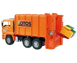 Camión basura de juguete MAN TG 410 A (naranja)