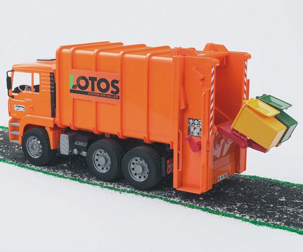 Camión basura de juguete MAN TG 410 A (naranja) - Ítem2