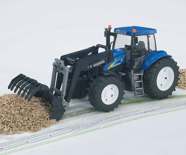 Tractor de juguete NEW HOLLAND T8040 con pala - Ítem2