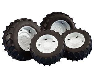 Pack ruedas gemelas tractores Serie 03000 llantas blancas