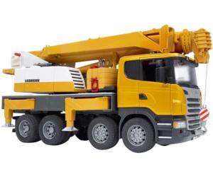 camion de juguete scania con grua liebherr