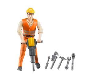 Trabajador de la construccion con accesorios