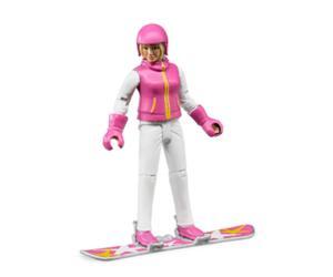 Esquiadora con accesorios