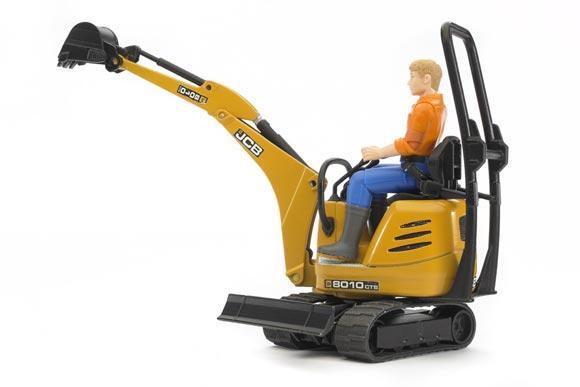 Miniexcavadora de juguete JCB 8010 CTS con conductor - Ítem2