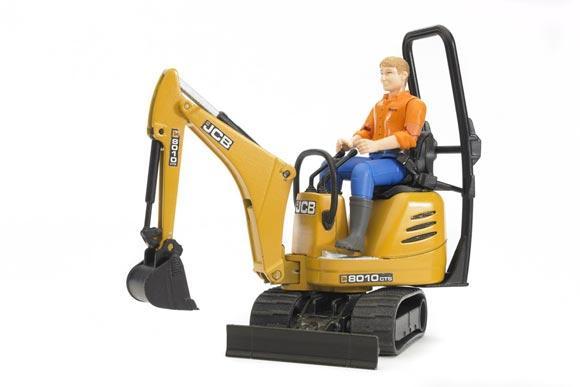 Miniexcavadora de juguete JCB 8010 CTS con conductor - Ítem3