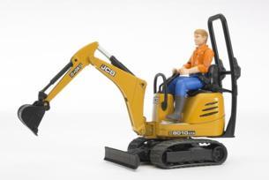 Miniexcavadora de juguete JCB 8010 CTS con conductor