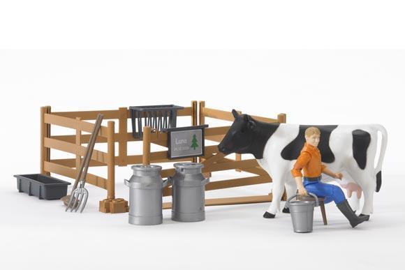 Pack granjero, vaca, vallado y accesorios - Ítem3