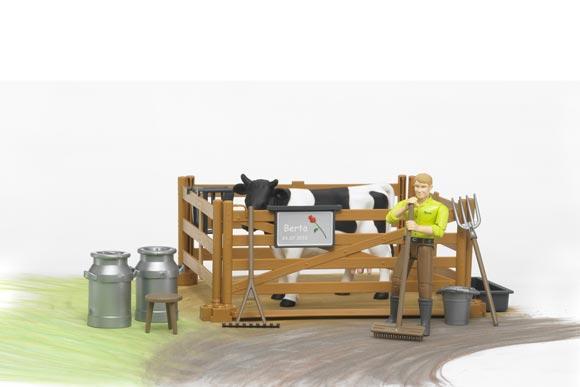 Pack granjero, vaca, vallado y accesorios - Ítem4
