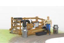 Pack granjero, vaca, vallado y accesorios - Ítem6