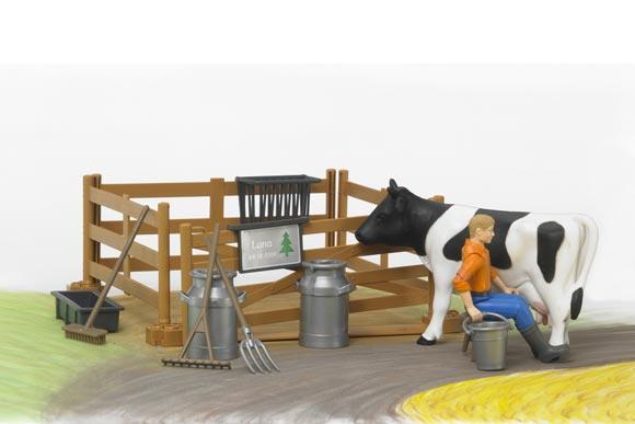 Pack granjero, vaca, vallado y accesorios - Ítem7