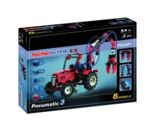 Kit montaje tractor PNEUMATICA con pinza fischertechnik 516185 - Ítem8