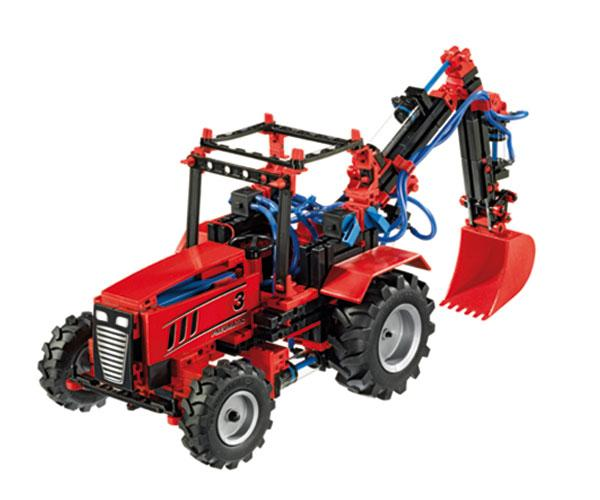 Kit montaje tractor PNEUMATICA con pinza fischertechnik 516185