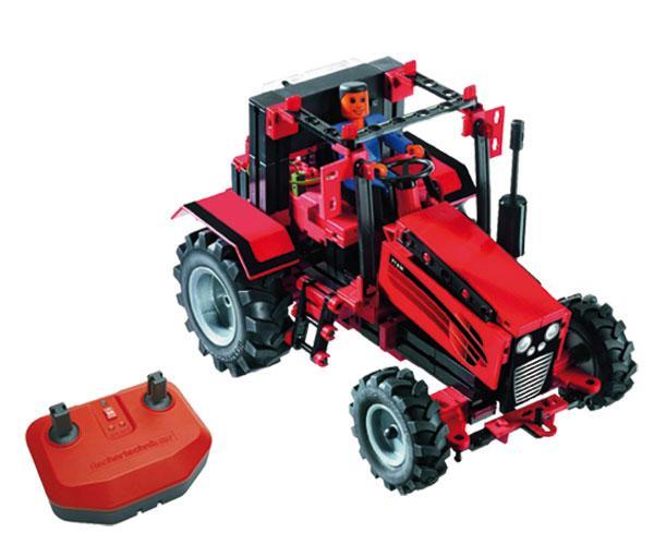 Kit de montaje tractor con apero RC Radio control fischertechnik 524325