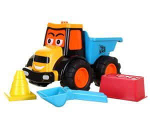 Tractor JCB de juguete con remoque Golden Bear 4034