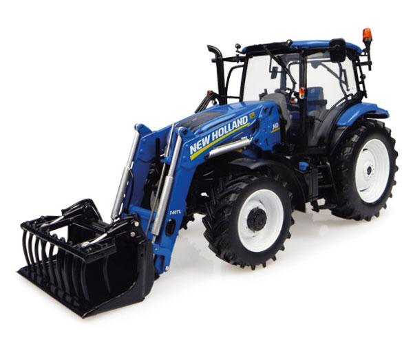 Réplica tractor NEW HOLLAND T6.145 con pala 740TL Universal Hobbies UH4956