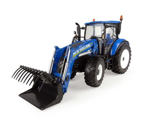 Réplica tractor NEW HOLLAND T5.120 con pala Universal Hobbies UH4958 - Ítem