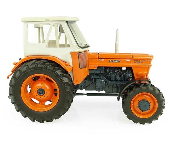 UNIVERSAL HOBBIES 1:32 Tractor FIAT 750 Special DT - 4 WD con cabina FRITZMEIER - Ítem1