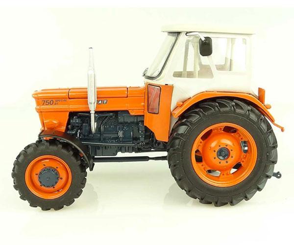 UNIVERSAL HOBBIES 1:32 Tractor FIAT 750 Special DT - 4 WD con cabina FRITZMEIER - Ítem2