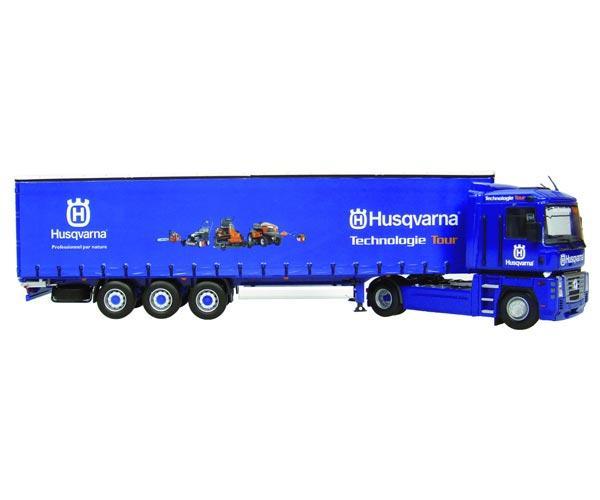 camion renault magnum con remolque krone usqvarna