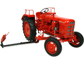 Réplica tractor FAHR D180H con segadora lateral