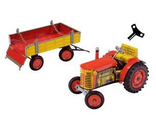 Tractor de cuerda ZETOR con remolque