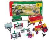 Agro Set 2 - Tractor de cuerda con aperos