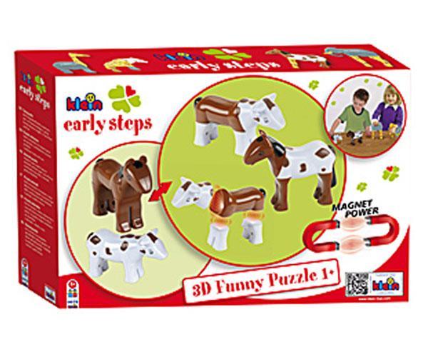 Puzzle magnético caballo y vaca