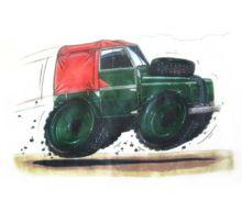 Camiseta Land Rover Serie II talla XL - Ítem1