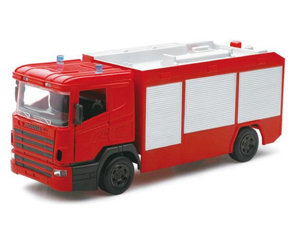 Miniatura camion bomberos SCANIA R124/400 New ray 10523