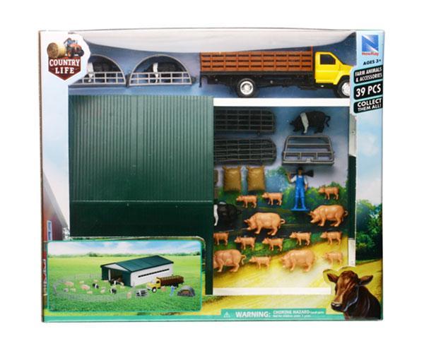 Pack almacén con animales y vehículos New Ray 04143 - Ítem1