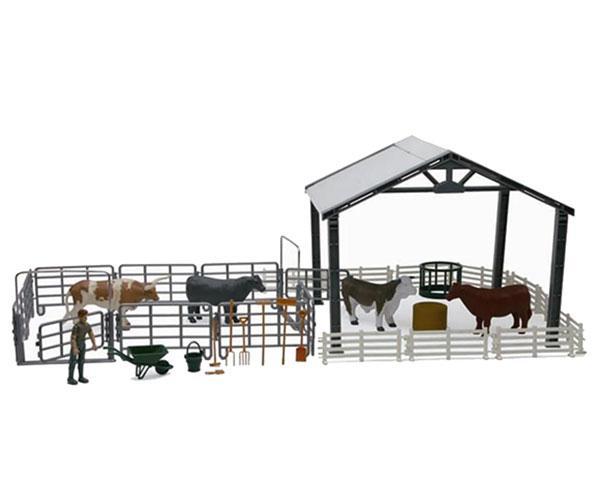 Pack establo, vallas, granjero, vacas y accesorios New Ray 5135