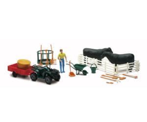 Pack granjero, vacas, vehículos y accesorios New Ray 05145a