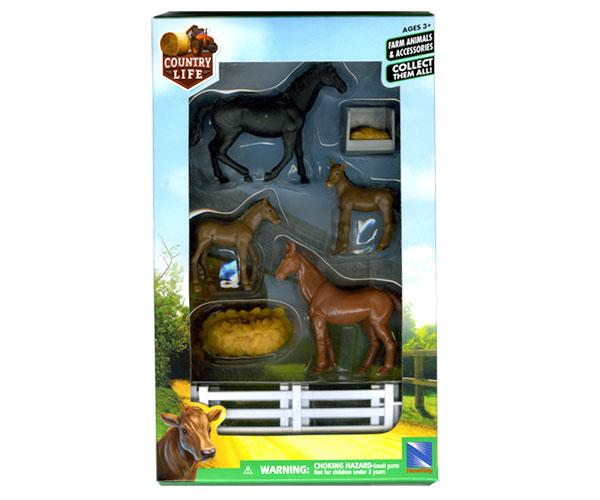 Pack caballos, yeguas, potros, vallado New Ray 05515 - Ítem1