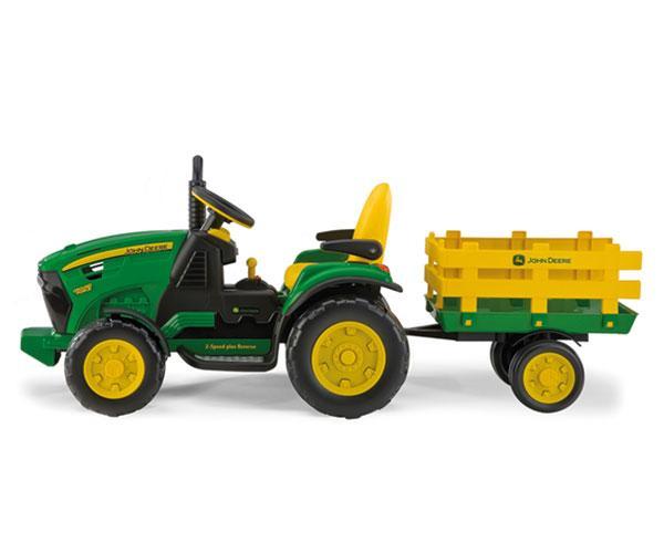 Tractor de batería JOHN DEERE con remolque Peg-Perego OR0047 - Ítem1