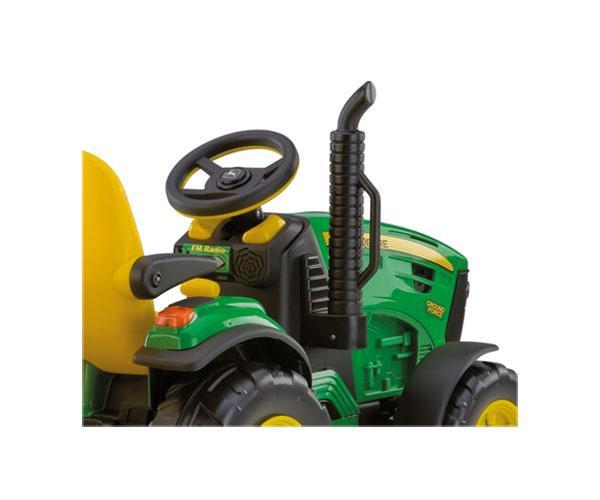 Tractor infantil de batería JOHN DEERE con remolque Peg-Perego OR0047 - Ítem6