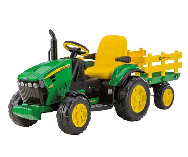 Tractor de batería JOHN DEERE con remolque Peg-Perego OR0047