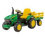 Tractor de batería JOHN DEERE con remolque Peg-Perego OR004