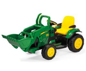 Tractor de batería JOHN DEERE con pala Peg-Perego OR0068