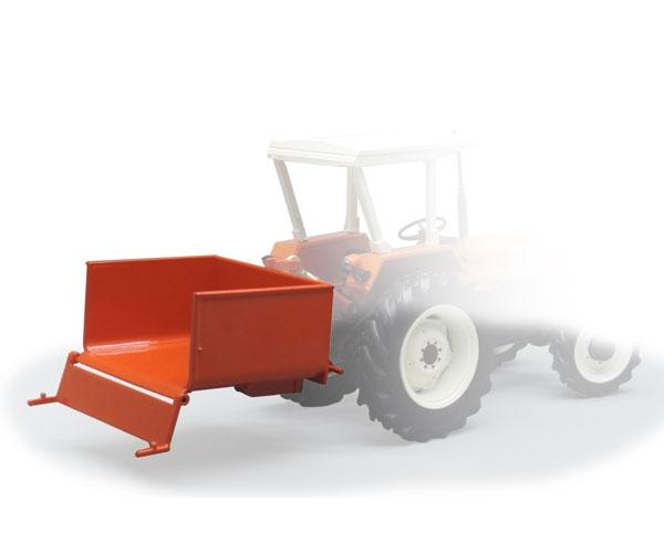 Miniatura caja transporte tractor naranja Replicagri REP140