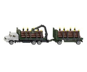 Miniatura camion MB con remolque troncos