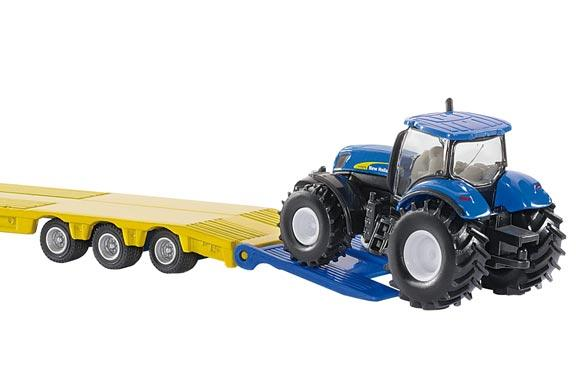 Miniatura camion LKW con tractores NEW HOLLAND T7070 - Ítem1