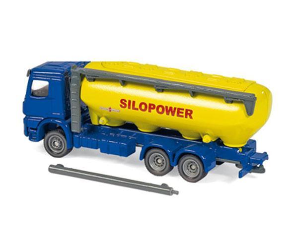 Miniatura camión MERCEDES BENZ LKW con remolque transporte de pienso Siku 1809 - Ítem1
