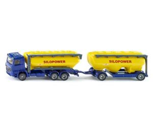 Miniatura camión MERCEDES BENZ LKW con remolque transporte de pienso Siku 1809