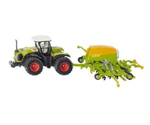 Miniatura tractor CLAAS c/sembradora AMAZONE