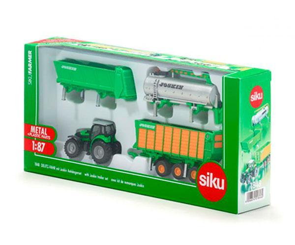 Miniatura tractor DEUTZ-FAHR Agrotron con remolque JOSKIN sistema cargo - Ítem1