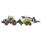 Miniatrua tractor CLAAS Axion 850 con empacadora CLAAS Quadrant 3400