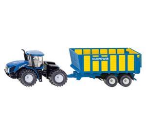 Miniatura tractor NEW HOLLAND T9.560 con remolque