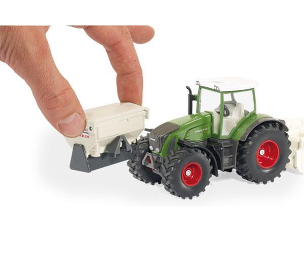 SIKU 1:32 Miniatura tractor FENDT 936 Vario con accesorios de construcción de carreteras - Ítem1