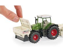 Miniatura tractor FENDT 936 Vario con accesorios de construcción de carreteras - Ítem2